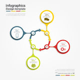 Infographic report template. Vector illustration. Infographic report template with place for your data. Vector illustration stock illustration