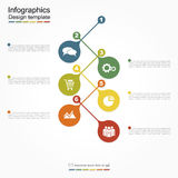 Infographic report template. Vector illustration Royalty Free Stock Image