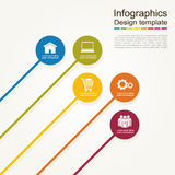 Infographic report template. Vector illustration Royalty Free Stock Photo