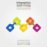 Infographic report template. Vector illustration. Infographic report template with place for your data. Vector illustration Royalty Free Stock Images
