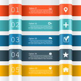Infographic report template. Vector illustration. Infographic report template with place for your data. Vector illustration Royalty Free Stock Photos