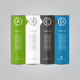Infographic report template. Vector illustration. Infographic report template with place for your data. Vector illustration Stock Images