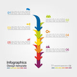 Infographic report template. Vector illustration. Infographic report template with place for your data. Vector illustration Royalty Free Stock Photo