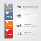 Infographic report template. Vector. Infographic report template with lines and icons. Vector illustration Stock Photography