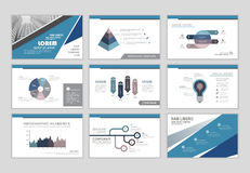 Infographic resume template. Infographic brochure elements for business and finance visualization. Set of infographic templates for flyer, leaflet cover, annual Stock Photography