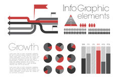 infographic retro Vektor Illustrationer