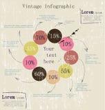 Infographic retro com setas da tinta. Ilustração Stock