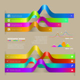 Infographic ribbon. Illustration of infographic color ribbon Royalty Free Illustration