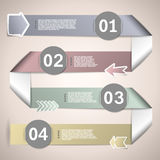 Infographic ribbons for data presentation Royalty Free Stock Image