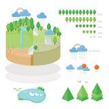 Infographic środowisko i pogoda na ziemi Obraz Royalty Free
