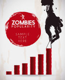 Infographic with Rotten Zombie Hand, Vector Illustration Royalty Free Stock Images