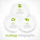 Infographic round elements Stock Images