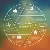 Infographic runt diagram Arkivfoton
