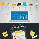 Infographic for sale of real estate Stock Image