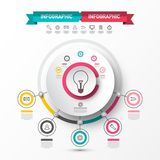 Infographic Sata Flow Chart with Bulb Icon vector illustration