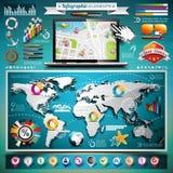 Infographic Satz der Vektorsommer-Reise Stockfotografie