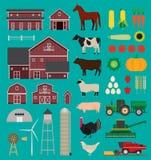 Infographic Satz des Bauernhofes stockfotos