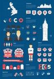 Infographic Satz Vereinigten Königreichs Lizenzfreie Stockfotos