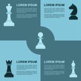 Infographic schaak Royalty-vrije Stock Afbeelding