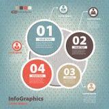 Infographic-Schablone Stockfoto