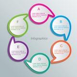 Infographic-Schablone Stockbild