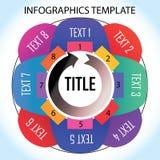 Infographic Schablone lizenzfreie abbildung