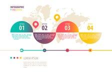 Infographic Schablone Stockfotografie