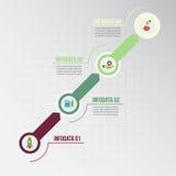 Infographic Schablone Datensichtbarmachung Lizenzfreie Stockfotos