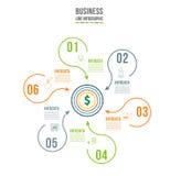 Infographic Schablone Datensichtbarmachung Kann für Arbeitsflussplan, Zahl verwendet werden von Wahlen, Schritte, Diagramm, Diagr Lizenzfreie Stockbilder