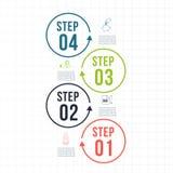 Infographic Schablone Datensichtbarmachung Kann für Arbeitsflussplan, Zahl verwendet werden von Wahlen, Schritte, Diagramm, Diagr Stockfotografie