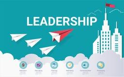 Infographic Schablone der Führungsfähigkeiten, mit etwas einfachen Schritten oder Wahlen, zum Sie zu helfen, für Ihr Geschäft zu  stock abbildung