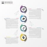 Infographic Schablone der Geschäftszeitachse Vektor Stockfoto