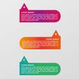 Infographic Schablone der Informationen Stockfotos