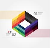 Infographic Schablone der minimalen Art des modernen Designs Stockfotografie