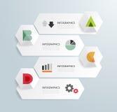 Infographic Schablone der minimalen Art des modernen Designs stock abbildung