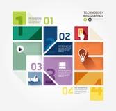 Infographic Schablone der minimalen Art des modernen Designs. Stockfotografie