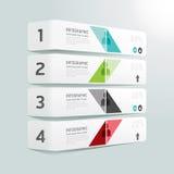 Infographic Schablone der minimalen Art des modernen Designs. Lizenzfreie Stockfotos
