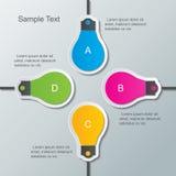 Infographic Schablone der Papierbirne Stockbild