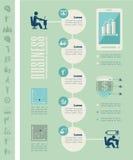 Infographic Schablone des Geschäfts Stockbild