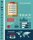 Infographic Schablone des Geschäfts Stockfotos