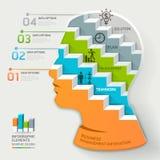 Infographic Schablone des Geschäftskonzeptes Geschäftsmann Stockbild