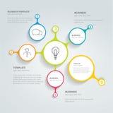 Infographic Schablone des Kreises Stockfoto