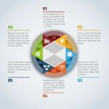 Infographic Schablone des Kreises Lizenzfreie Stockfotografie