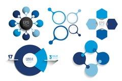 Infographic Schablone des Kreises Rundes Nettodiagramm, Diagramm, Darstellung, Diagramm Stockfotografie
