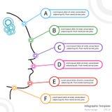 Infographic Schablone des Vektors mit Gesicht Lizenzfreie Stockbilder