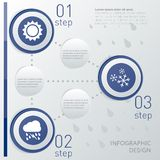 Infographic Schablone des Wetters Lizenzfreie Stockfotos