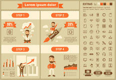 Infographic-Schablone Design der Technologie flache Stockfoto