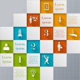 Infographic Schablone Digital-Mosaiks Lizenzfreie Stockfotografie
