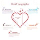 Infographic-Schablone mit Herzen Lizenzfreie Stockfotografie