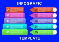 Infographic-Schablone mit Papieraufkleber, integrierte Kreise Geschäftskonzept mit Wahlen lizenzfreies stockbild